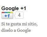 Google+1 Botón
