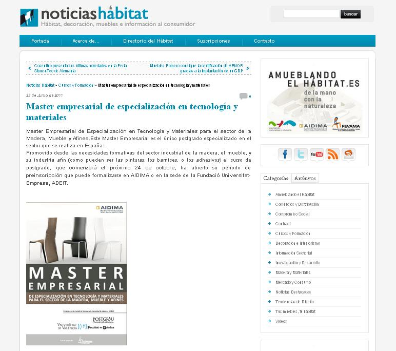 Master Empresarial Sector Mueble