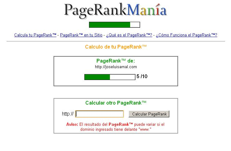 Jose Luis Arnal PageRank
