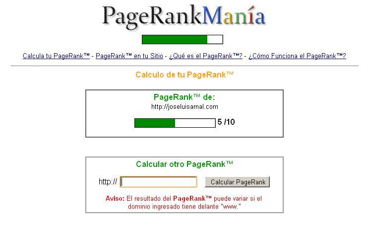 Jose Luis Arnal PageRank