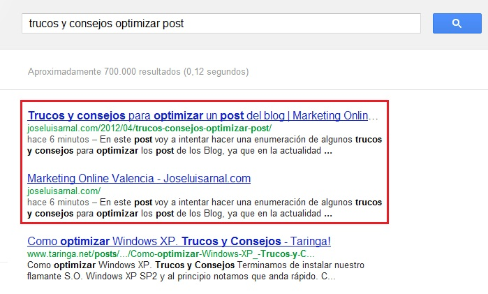 resultados tecnicas seo