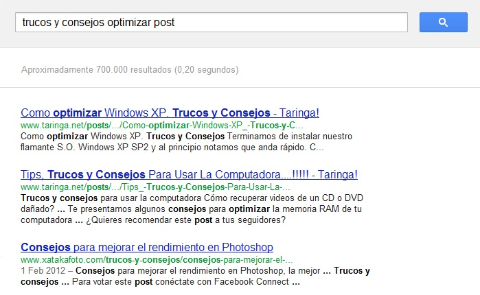 optimización seo post