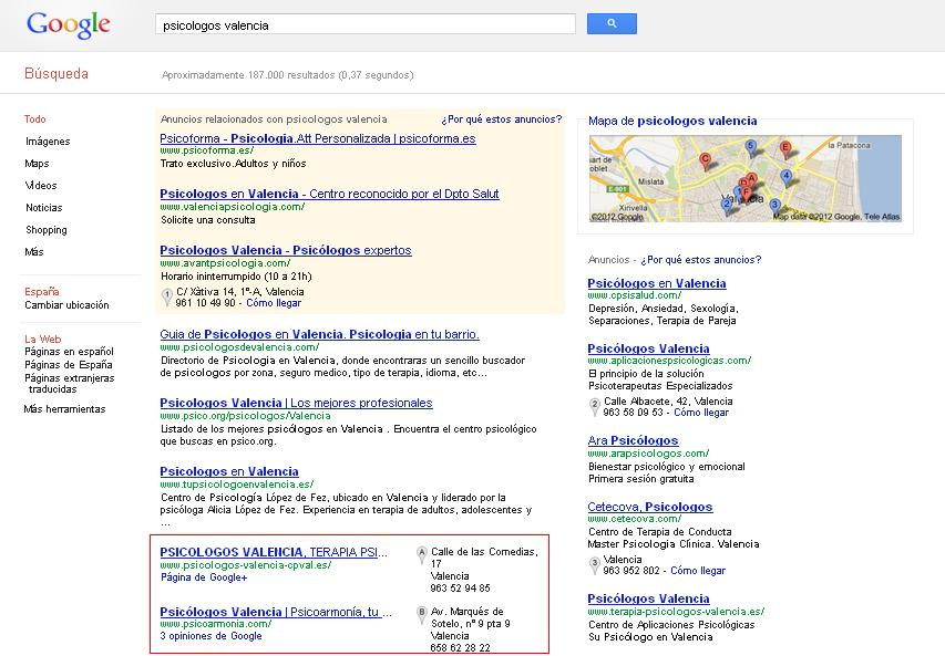 empresa en google maps
