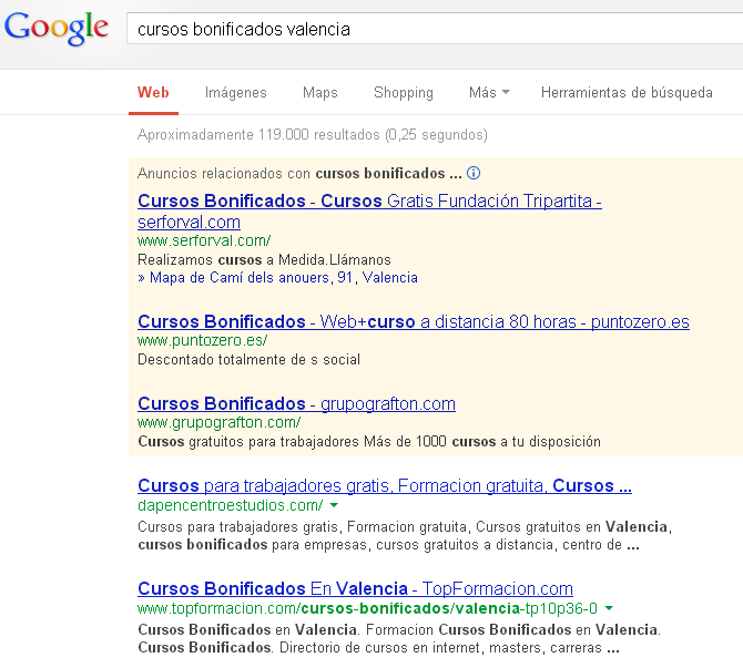 Gestion campañas adwords