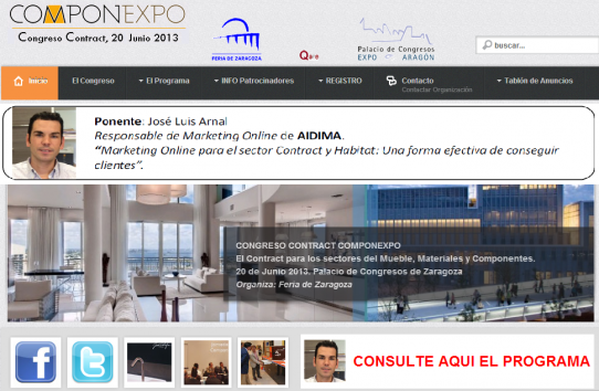 Marketing Online en el Congreso Contract Componexpo de Zaragoza