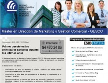 Máster en Dirección de Marketing ESIC Bilbao