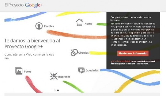 Invitaciones para la red social Google+