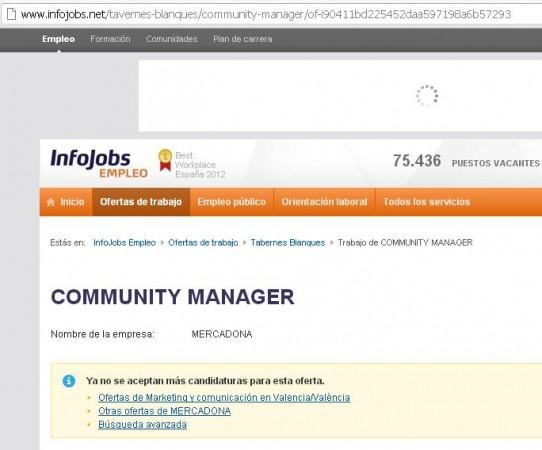 Community Manager Mercadona